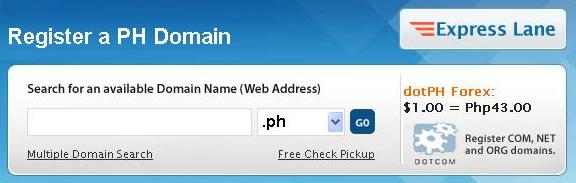 dotPH search domain names availability
