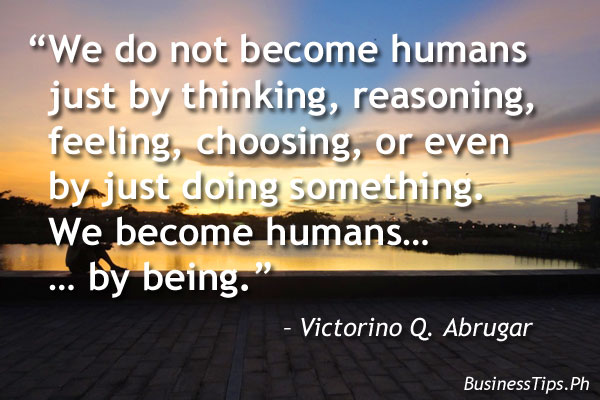 A quote to being a successful human being
