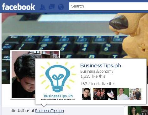 Facebook page on my profile info