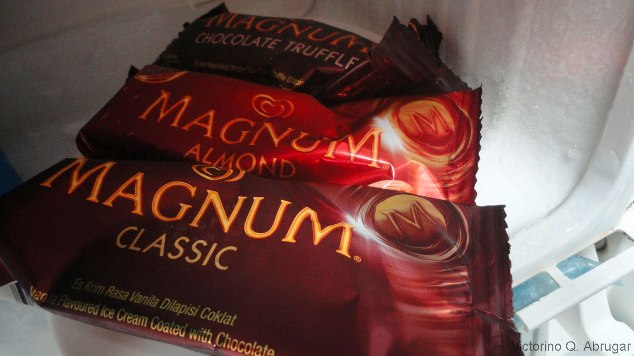 Frozen Magnum ice cream bars