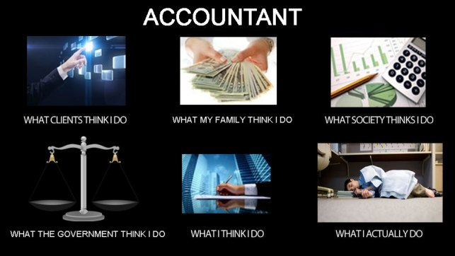 The accountant's version meme