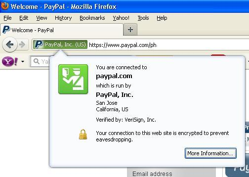 Sample Secure site on Firefox