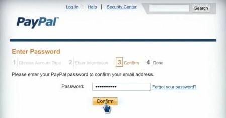 Confirm and activate your PayPal account