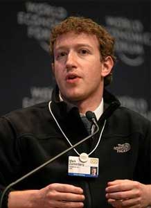 The young entrepreneur Mark Zuckerberg
