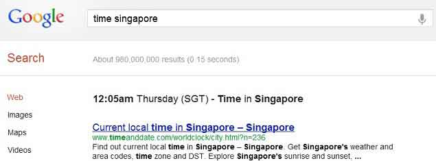 Google time zone