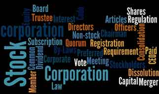 corporation code and words