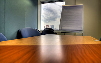 Meeting room for employees and employer