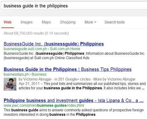 Business guide Philippines search