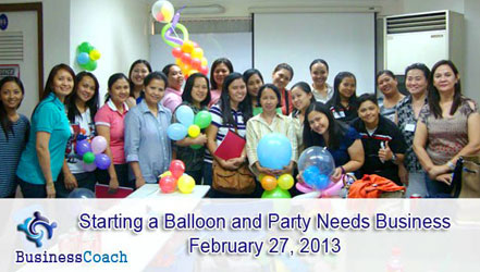 Businesscoach party busines seminar