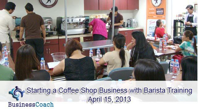 Coffee shop business training