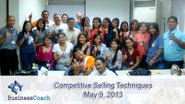 Competitive selling seminar