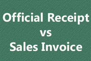Official receipts vs sales inv