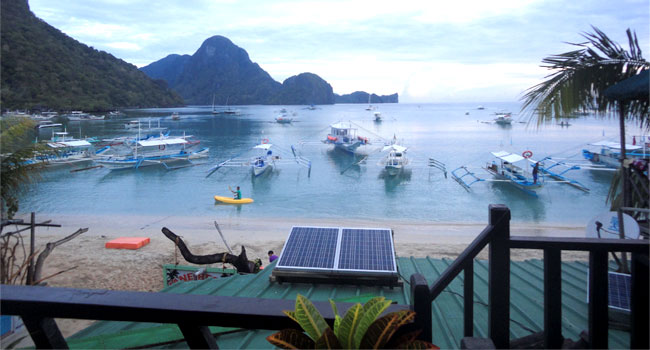 solar panel in El Nido