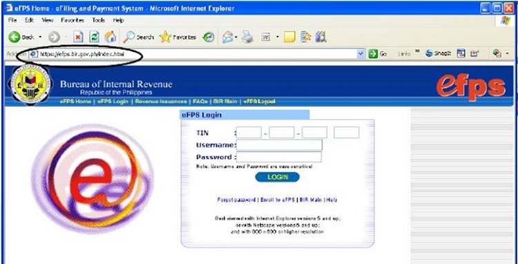 BIR eFPS Page