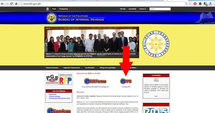 BIR website homepage