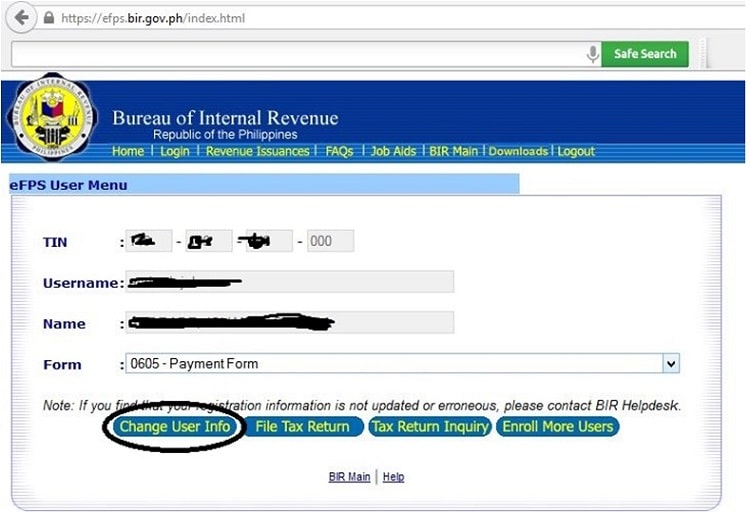 How To Register With The Bir Efps Efiling And Payment System