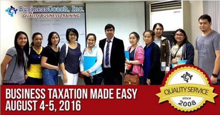 Business Coach Taxation Seminar