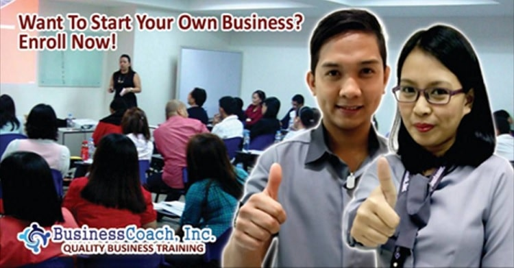 Businesscoach starting a business training
