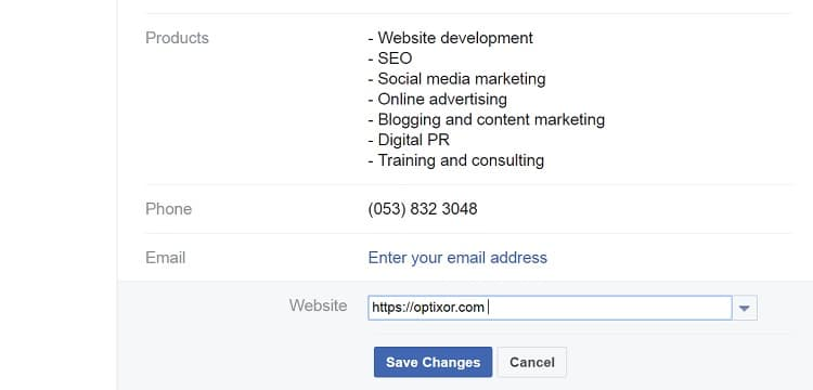 Facebook asks your website