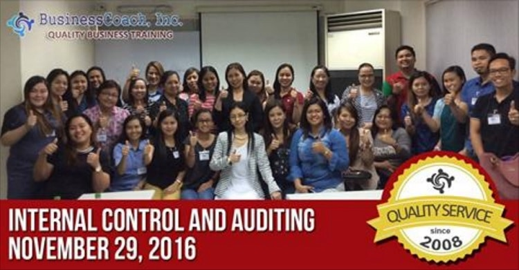 Internal control and auditing training