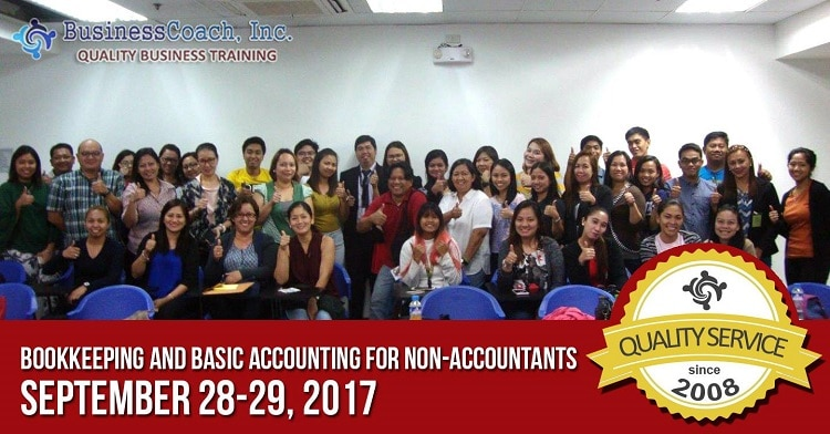 Business Coach Seminar on bookkeeping